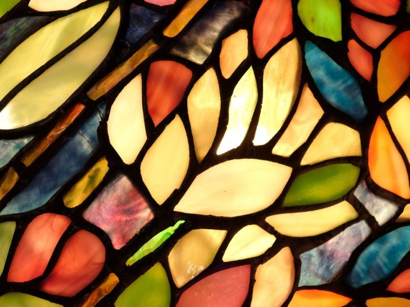 Stained glass reflections